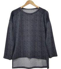 sweater negro mecano escocés plus size