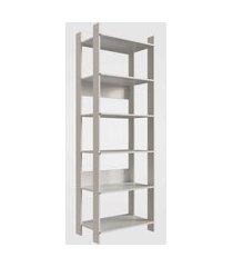 closet aberto com prateleiras off white completa móveis