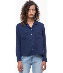 blusa regular dinna azul calvin klein