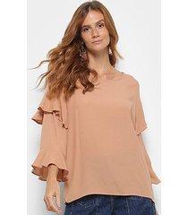 blusa colcci babados feminina