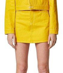 hudson women's viper denim mini skirt - citron - size 26 (2-4)