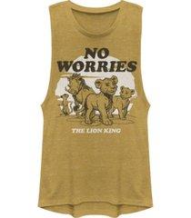 disney juniors' lion king no worries back festival muscle tank top