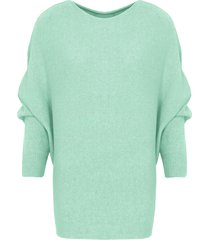oversized soft trui mint