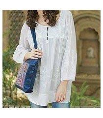 cotton blouse, 'romantic white' (india)