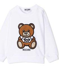moschino white cotton and wool sweatshirt