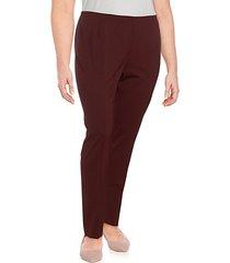 plus front zip full length pants