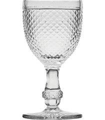 conjunto 6 taças de vidro para água bico de jaca 255ml – linha transparente