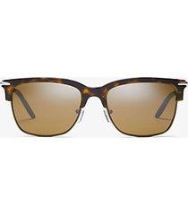 mk occhiali da sole lincoln - tartaruga (marrone) - michael kors