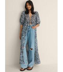 na-kd trend strandklänning - blue