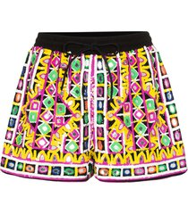 ashish sequinned mirrored shorts - pink