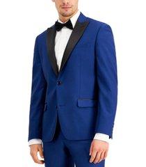 ryan seacrest distinction men's slim-fit cobalt twill sport coat, created for macy's