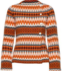 siv stickad tröja cardigan orange jumperfabriken
