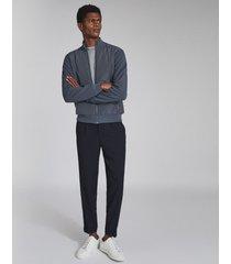 reiss steven - hybrid zip through jacket in airforce blue, mens, size xxl