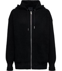 givenchy black 4g hoodie in viscose blend
