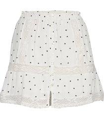 ellison textured lace skirt kort kjol vit superdry