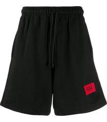 424 embroidered logo track pants - blk black