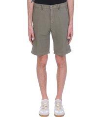 massimo alba vela shorts in green linen