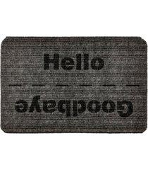 capacho carpet goobaye/hello cinza ãšnico love decor - cinza - dafiti