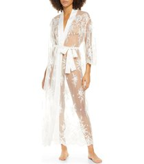 women's rya collection darling sheer lace robe, size x-large - ivory