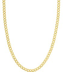 10k yellow gold curb chain necklace/5.7mm