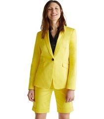 blazer elástico con brillo sutil amarillo esprit