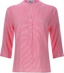 blusa mujer rayas verticales color rosado, talla s