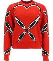 alexander mcqueen love heart sweater