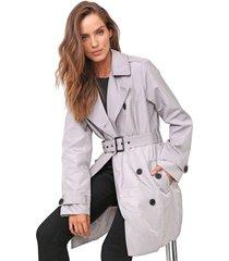 casaco trench coat ellus milano cinza