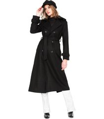 casaco trench coat forum longo preto