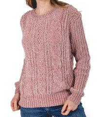 sweater acuario rosa guinda