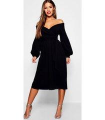 petite strapless culotte wikkel jumpsuit, zwart