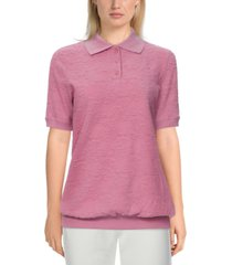 alfred dunner petite classics jacquard knit top