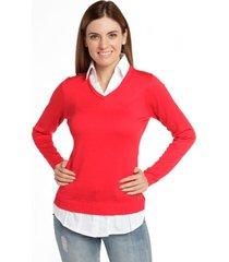 tejido blusa lunares rojo bunnys
