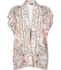 etro paisley print silk kimono-poncho
