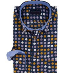 overhemd portofino casual dit navy okergeel