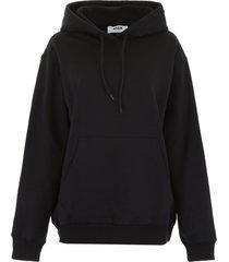 msgm oversized logo hoodie