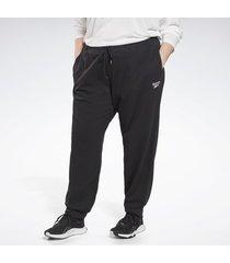 sweater reebok sport identity french terry broek (plus size)