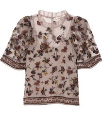 francesca embroidery top in multi