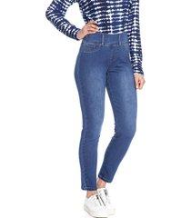 jeans pierna recta liso celeste curvi