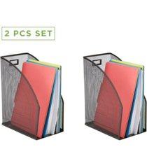 mind reader 2 piece mesh jumbo magazine file holder