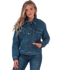 wrangler womens regular denim jacket size 12-14 in blue