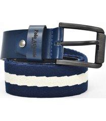 cinturón reata azul para hombre