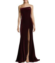 women's xscape strapless velvet gown