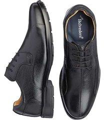 belvedere men's coronado black bike toe lace-up dress shoes - size: 9 eee-width