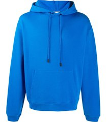 zadig & voltaire drawstring pullover hoodie - blue
