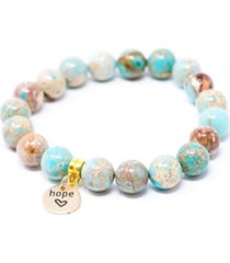 katie's cottage barn jasper sea sediment with hope charm give back bracelet