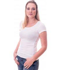 claesens women t-shirt round neck s/s white ( cl 8015 )