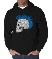 la pop art men's punk mohawk word art hooded sweatshirt