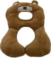 suporte travesseiro para cabeça e pescoço do bebê urso bege