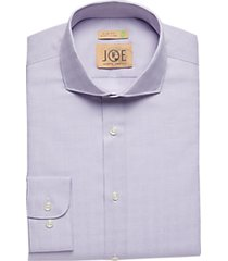 joe joseph abboud lilac diamond slim fit dress shirt